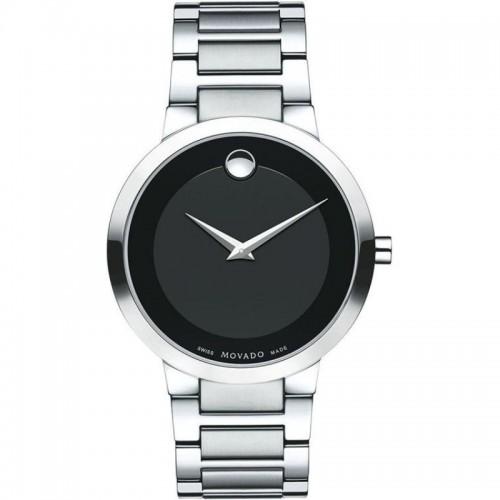 Movado Modern Analog Black Dial Men's Watch