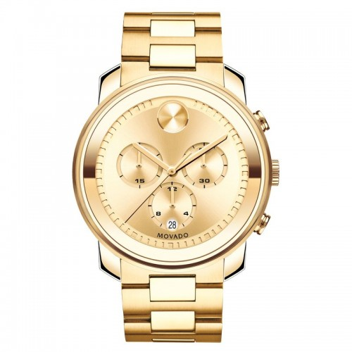 Movado Bold Gold Tone Steel Chronograph Men's Watch