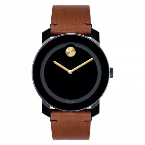 Movado Bold Round Analog Black Dial Men's Watch
