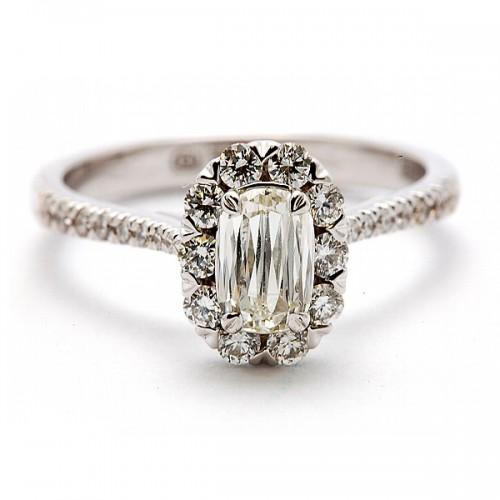 L'Amour Crisscut Diamond Engagement Ring