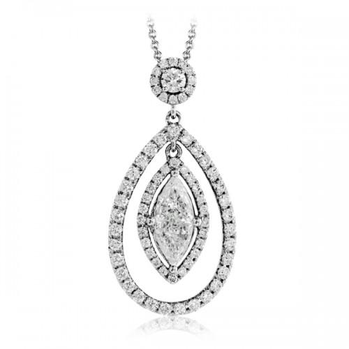 Simon G. Vintage Inspired Diamond Pendant