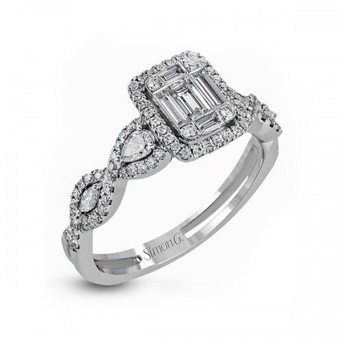Simon G. Mosaic Style Diamond Engagement Ring