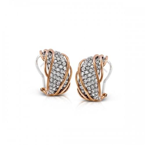 Simon G. Two Tone Diamond Earrings