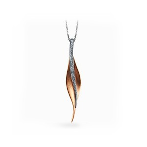 Simon G. Diamond Leaf Pendant