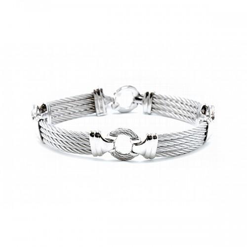 Men's Grey Cable Bracelet by ALOR