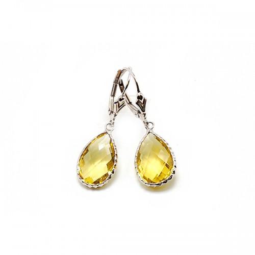 Lime Quartz Sterling Silver Earrings