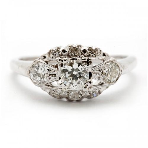Estate 3-Stone Diamond Ring