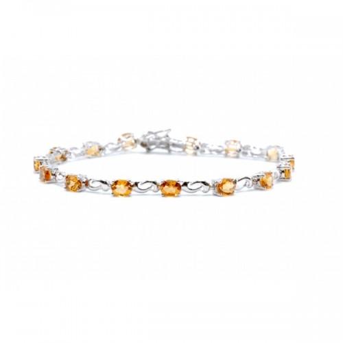 Citrine Link Bracelet