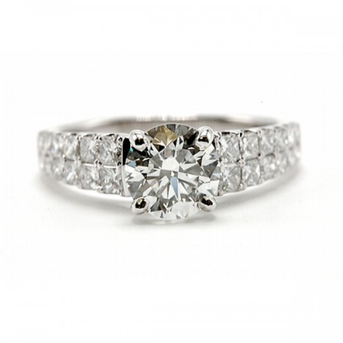 Simon G. Round Diamond Engagement Ring