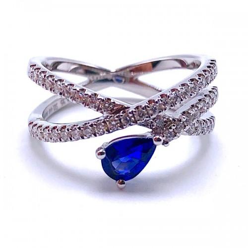 Simon G. Sapphire & Diamond Ring