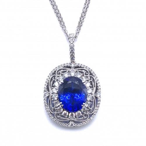 Simon G. Tanzanite & Diamond Pendant