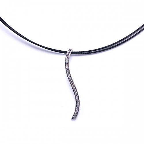 Pave Diamond Bar Pendant by ALOR
