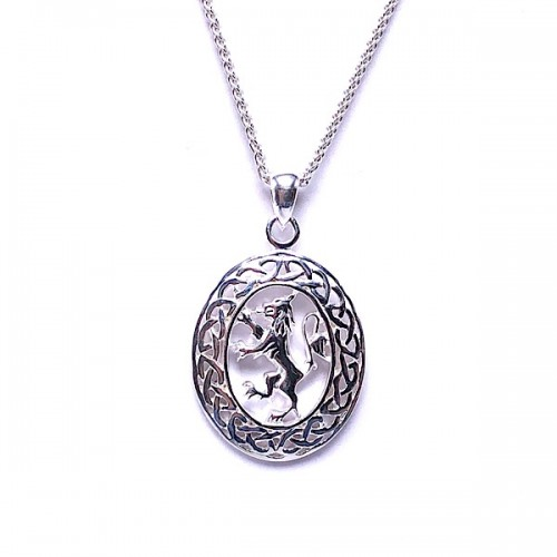 Sterling Silver Lion Rampant Pendant by Keith Jack