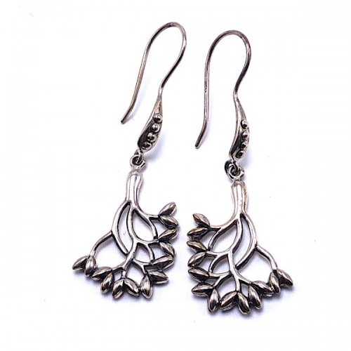 Sterling Silver Tree of Life Earrings by Keith Jack