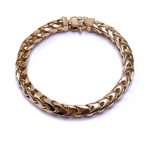Men's Gold Franco Link Bracelet