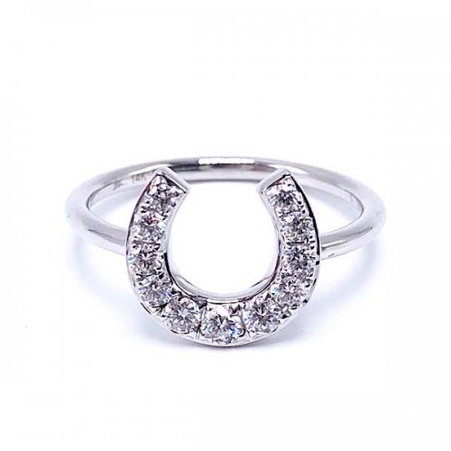 SHY Creation Diamond Horseshoe Ring