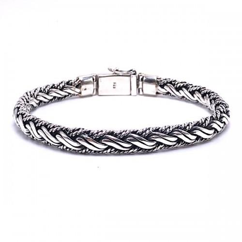 Sterling Silver Woven Bracelet by Samuel B.
