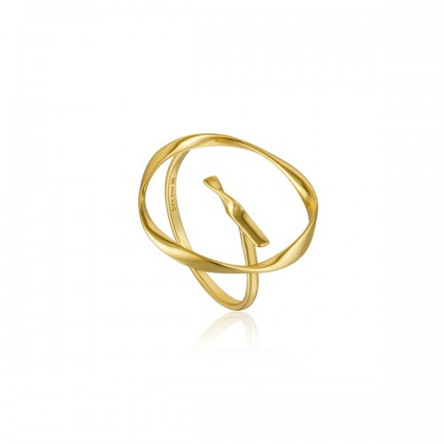 Sterling Silver Twist Circle Ring by Ania Haie
