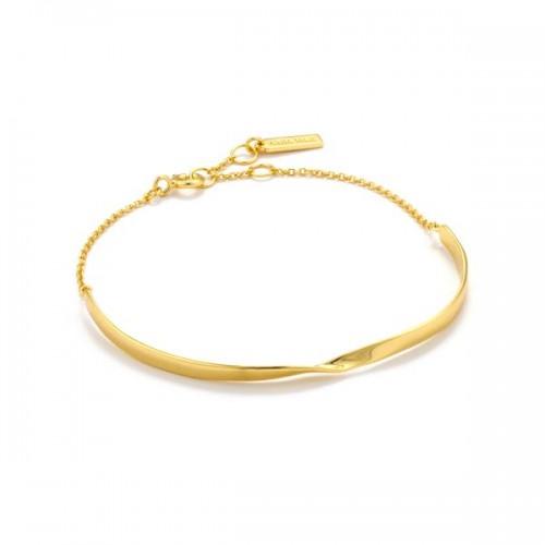 Sterling Silver Twist Bracelet by Ania Haie