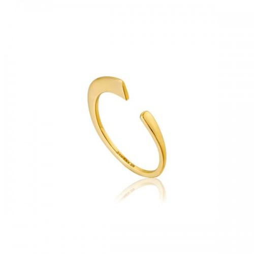 Sterling Silver Geometric Flat Ring by Ania Haie