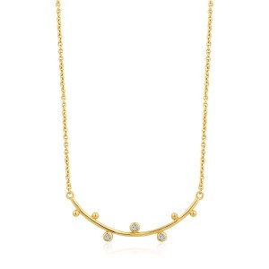 Sterling Silver Shimmer Solid Bar Stud Necklace by Ania Haie