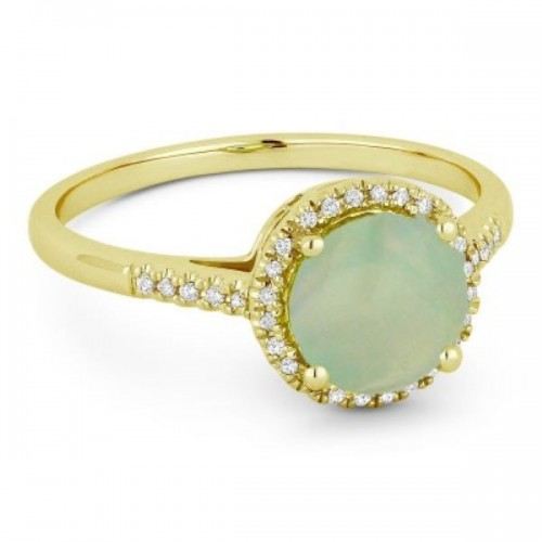 Ladies Opal & Diamond Ring