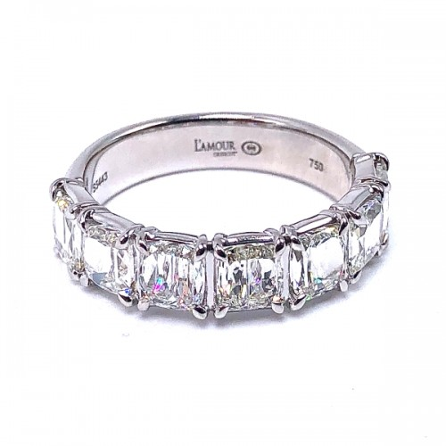 Cushion Criss Cut Diamond Wedding Ring