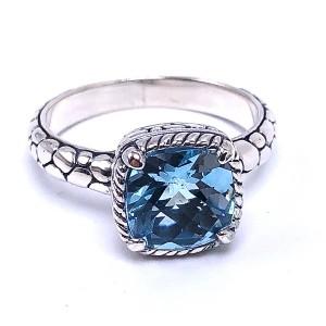 Sterling Silver Blue Topaz Ring by Samuel B.