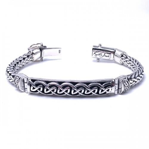 Sterling Silver Eternity Bar Bracelet by Keith Jack