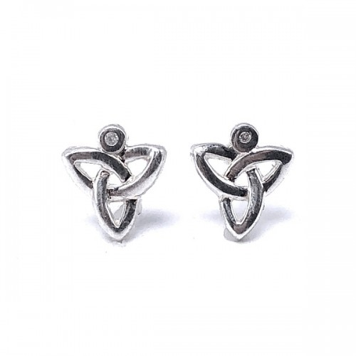Sterling Silver Trinity Knot Earrings by Keith Jack