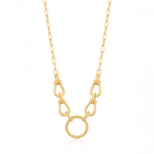 Sterling Silver Horseshoe Link Necklace by Ania Haie