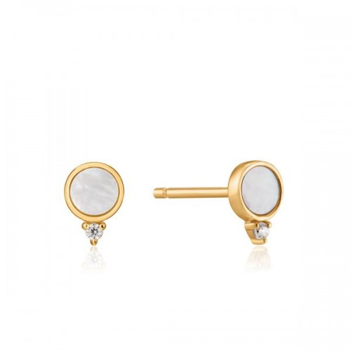 Ania Haie Yellow Mother-of-Pearl Stud Earrings