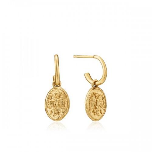 Sterling Silver Nika Mini Hoop Earrings by Ania Haie