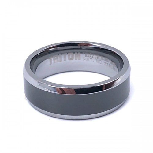 Men's Tungsten Carbide & Ceramic Wedding Band