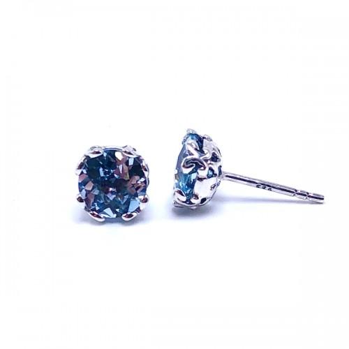 Sterling Silver Blue Topaz Earrings Samuel B.