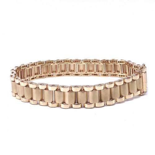 Men's Rolex Style Gold Bracelet