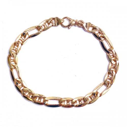 Men's Heavy Marine Oval Link Gold Bracelet