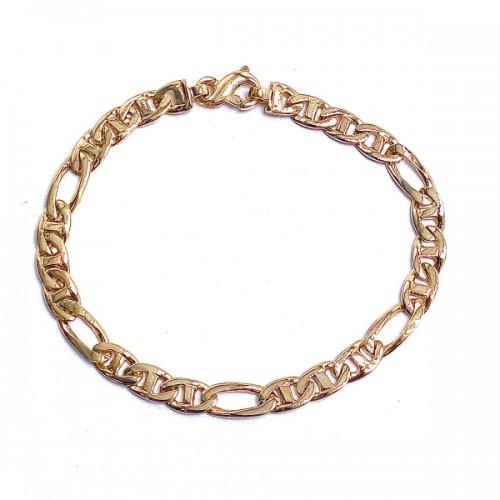 Men's Marine Oval Link Gold Bracelet