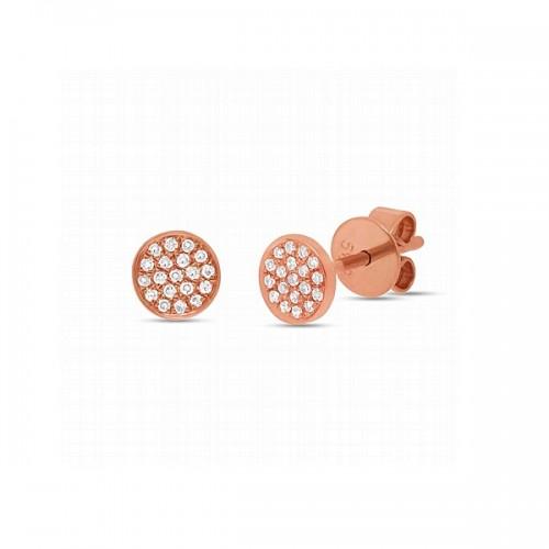 Multi Diamond Disc Stud Earrings by Shy Creation