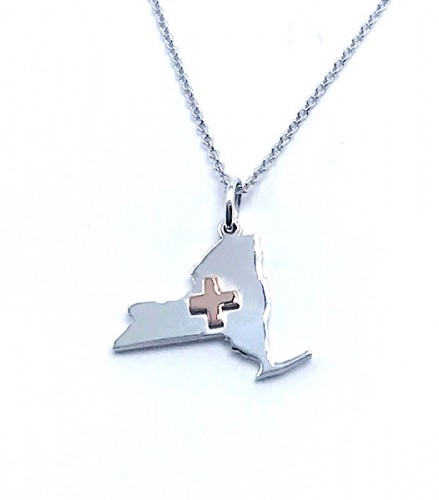 NY STRONG Pendant with Medical Cross