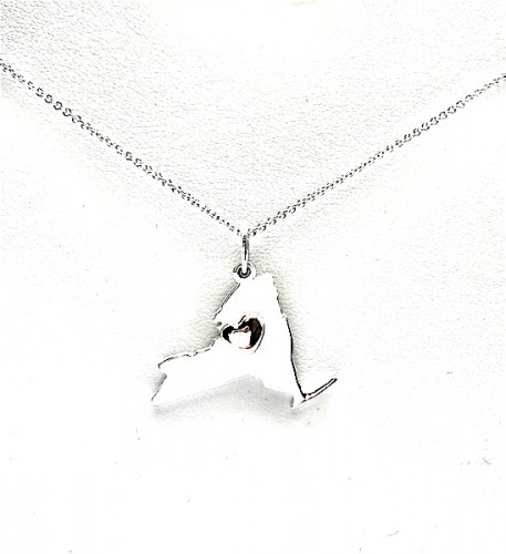 NY STRONG Pendant with Heart