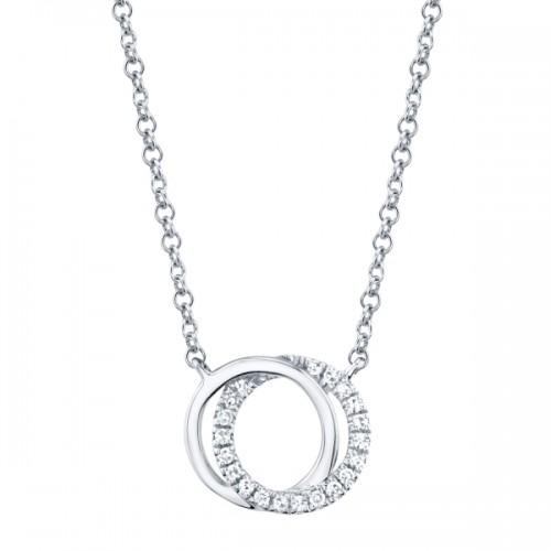 Double Circle Diamond Pendant by SHY Creation