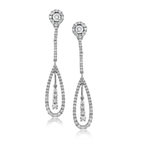 Diamond Drop Earrings by Simon G.