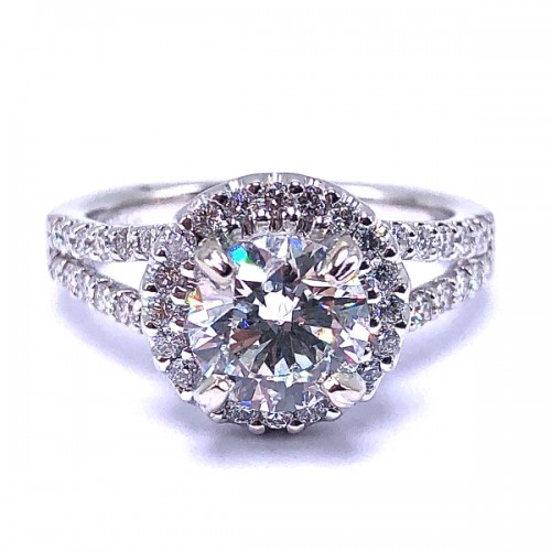 Round Diamond Engagement Ring by Gabriel & Co.