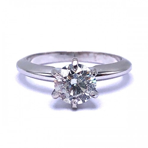 Round Solitaire Diamond Engagement Ring