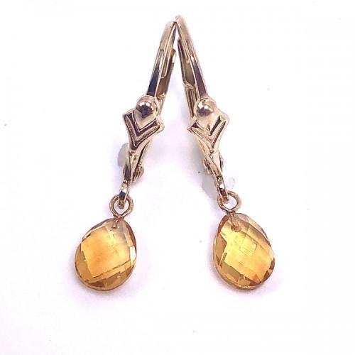 Briolette Citrine Earrings