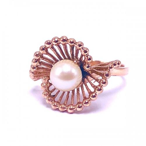 Estate Pearl Swirl Ring