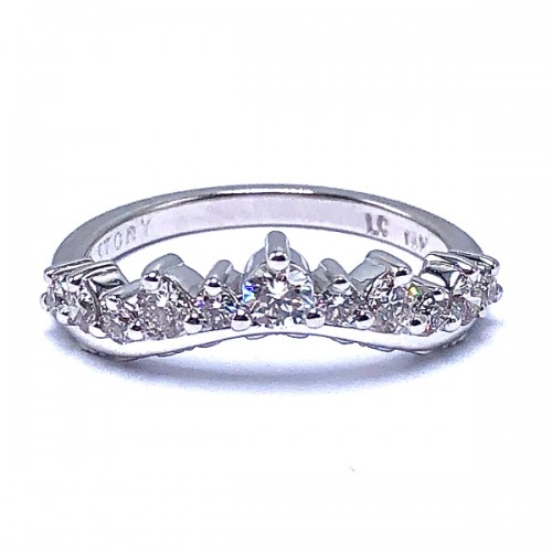Curved Diamond Wedding Band by Love Story
