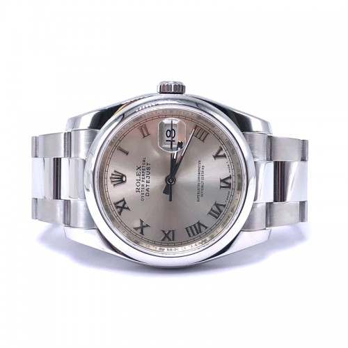 Pre-owned Rolex 36mm Datejust with Oyster Steel Bracelet