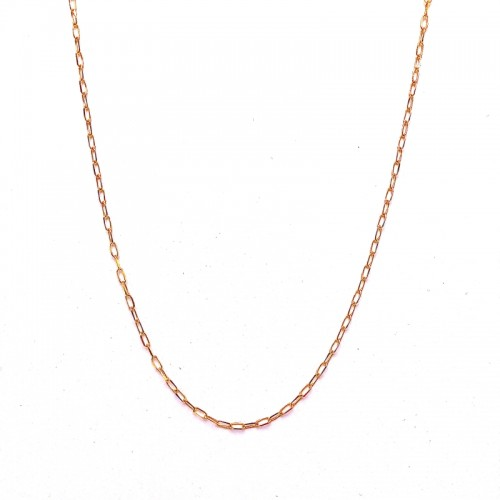 Paperclip Link Gold Chain